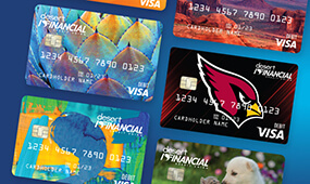 Our new debit card designs.