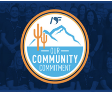 Desert Financial logo for Community Commitment.